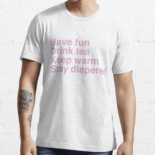 Stay Diapered - pink text Essential T-Shirt