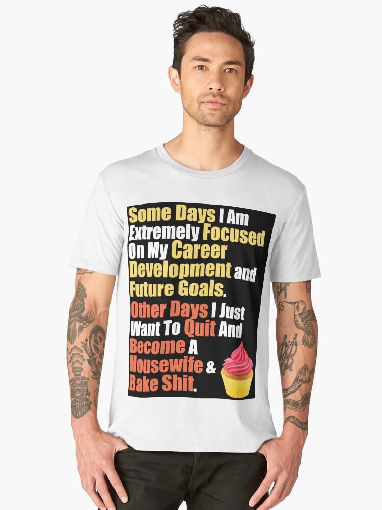 Career Mom's Quote Men's Premium T-Shirt Front