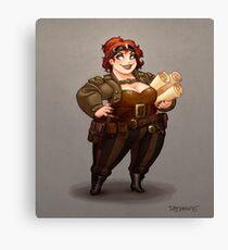 Lady Calpurnia Oxboxer Canvas Print