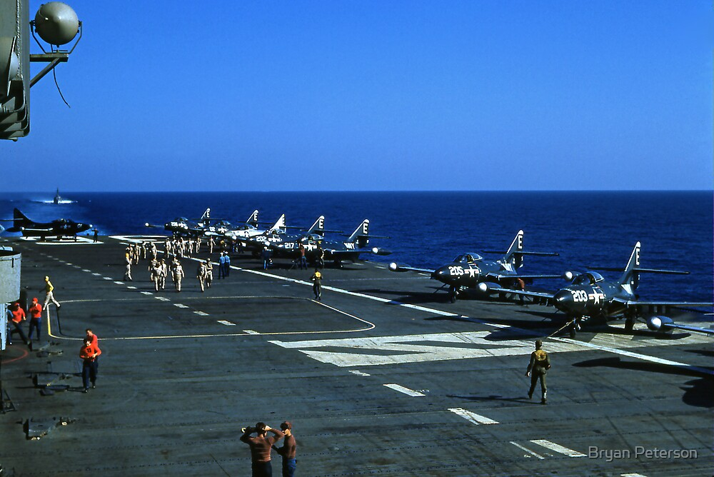 Flights Ops. on the USS Antietam CV 36 by Bryan Peterson