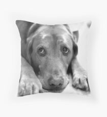 Merry Christmas Copper Throw Pillow