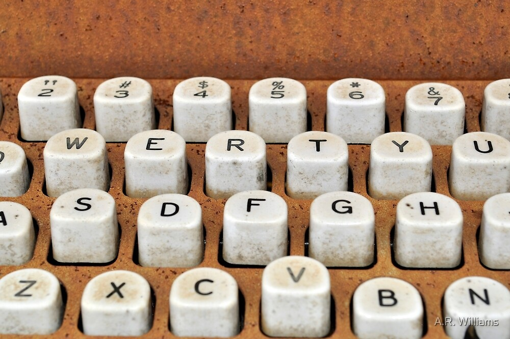 rusty typewriter by A.R. Williams