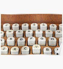 rusty typewriter Poster