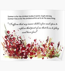 Affirmation for MY INNER CHILD Poster
