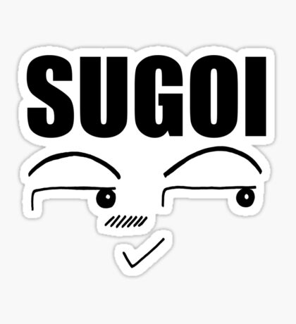 Sugoi-Tshirt (Great) Sticker