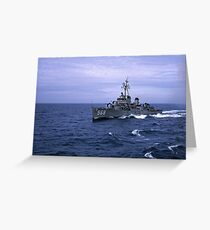 USS Wren DD 568 Greeting Card