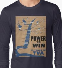 Vintage poster - Tennessee Valley Authority Long Sleeve T-Shirt