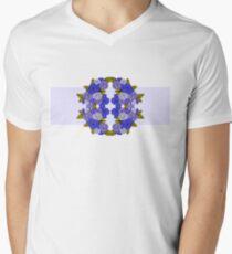 Blue Floral Punch Men's V-Neck T-Shirt
