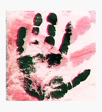 Handprint Photographic Print