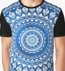 Mandala Blue Graphic T-Shirt