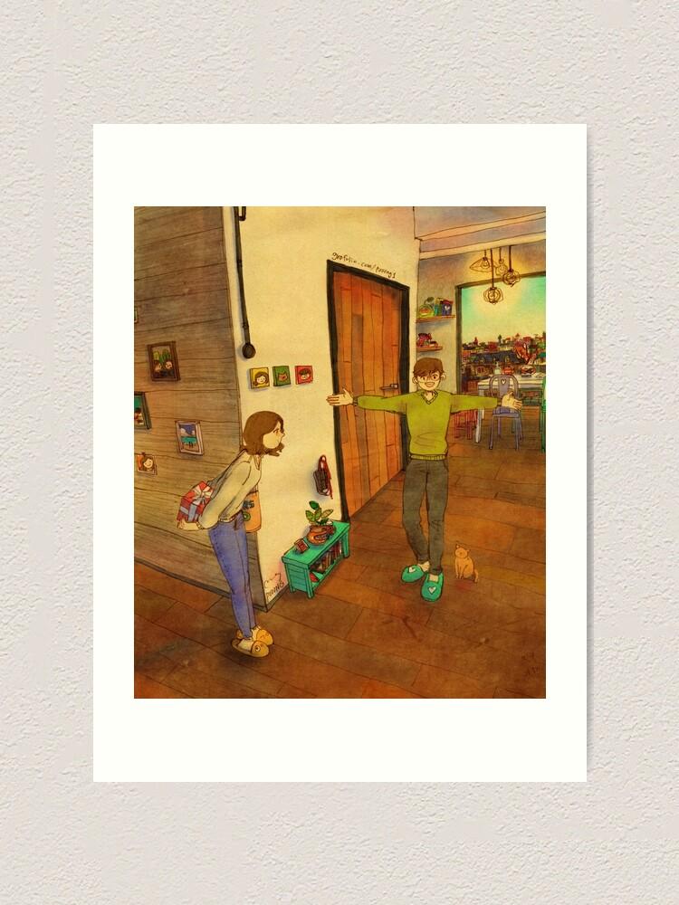 Alternate view of I'm home Art Print