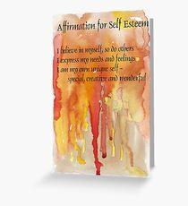 Affirmation for SELF-ESTEEM Greeting Card