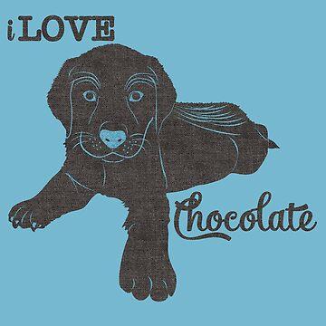I Love Chocolate Labrador Puppy by SalonOfArt