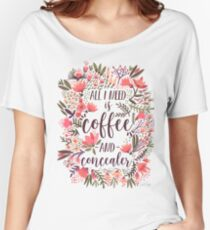 Coffee & Concealer – Vintage Palette Women's Relaxed Fit T-Shirt