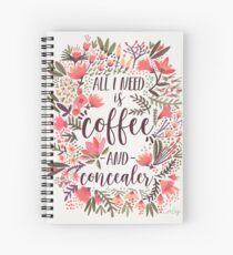 Coffee & Concealer – Vintage Palette Spiral Notebook