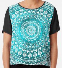 Mandala Turquoise Chiffon Top