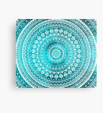 Mandala Turquoise Metal Print