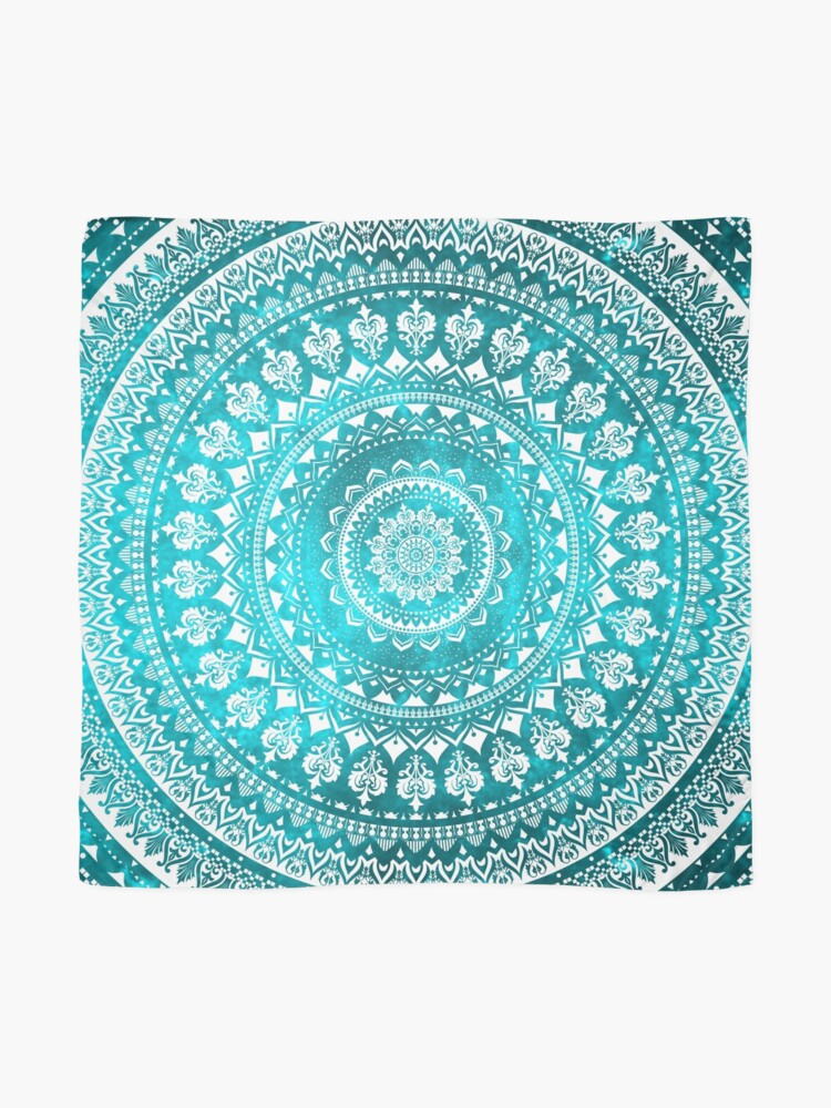 Alternate view of Mandala Turquoise Scarf