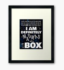 Madman with a Box Framed Print