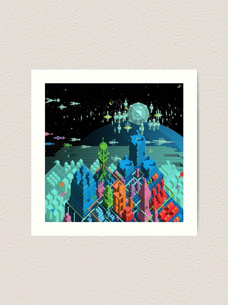 Alternate view of Pulse City Art Print