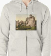 Vintage Photo-Print of Donegal Castle (1900) Zipped Hoodie