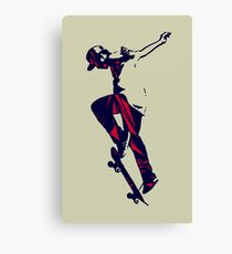 Skater (Red Triangles) Canvas Print