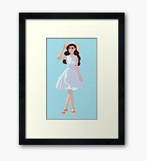 Beach Dress Framed Print