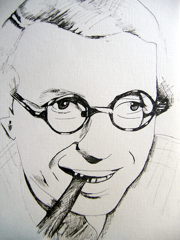 Jean-Paul Sartre by Xen Havales