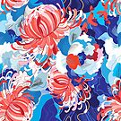 Seamless bright floral pattern by Tanor