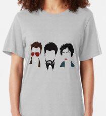 Jesse, Cassidy, and Tulip Artwork Slim Fit T-Shirt