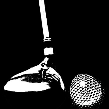 Golf Club and Golf Ball  by Gravityx9