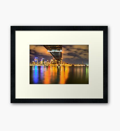 Icon - Moods Of A City #22 - The HDR Series , Sydney Harbour, Australia Framed Print