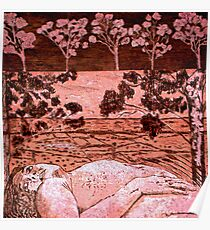 Nude in the Outback - Copper plate etching Poster