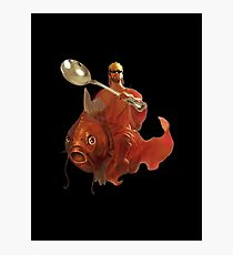 Jesus Riding A Magikarp Wielding A Giant Spoon And Wearing Glasses Photographic Print