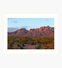 Organ Mountains At Sunset Art Print
