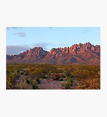 Organ Mountains At Sunset Photographic Print