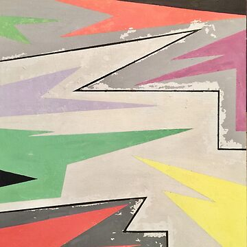 Abstract Art: Zig Zag Flag by fossyboots