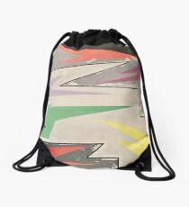 Abstract Art: Zig Zag Flag Drawstring Bag