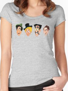 The Marx Brothers Faces  Women's Fitted Scoop T-Shirt