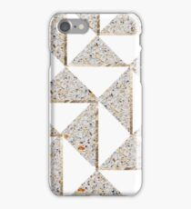 Gold Shimmer and Mixed Grain Geometric Pattern #2 iPhone Case/Skin