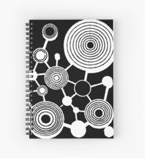 Vintage atom illustration Spiral Notebook
