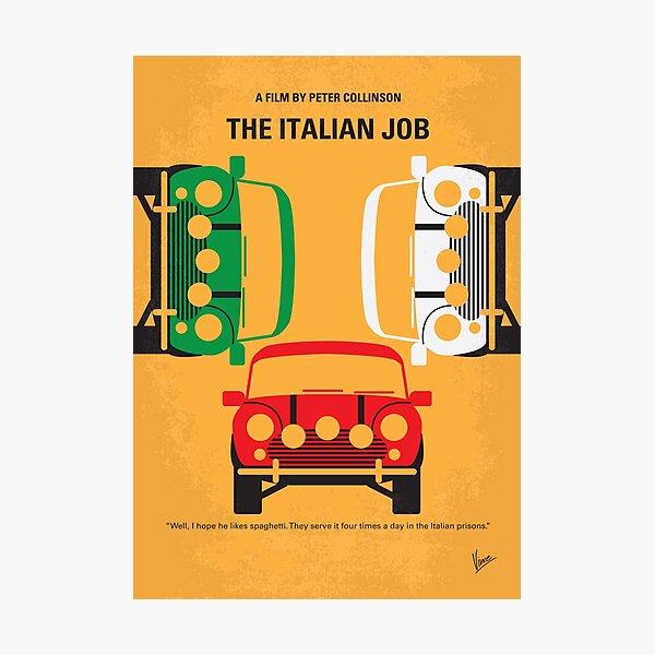 No279- The Italian Job minimal movie poster Photographic Print