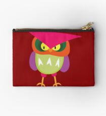 Colorful Angry Owl Studio Pouch