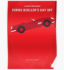 No292- Ferris Bueller's day off minimal movie poster Poster