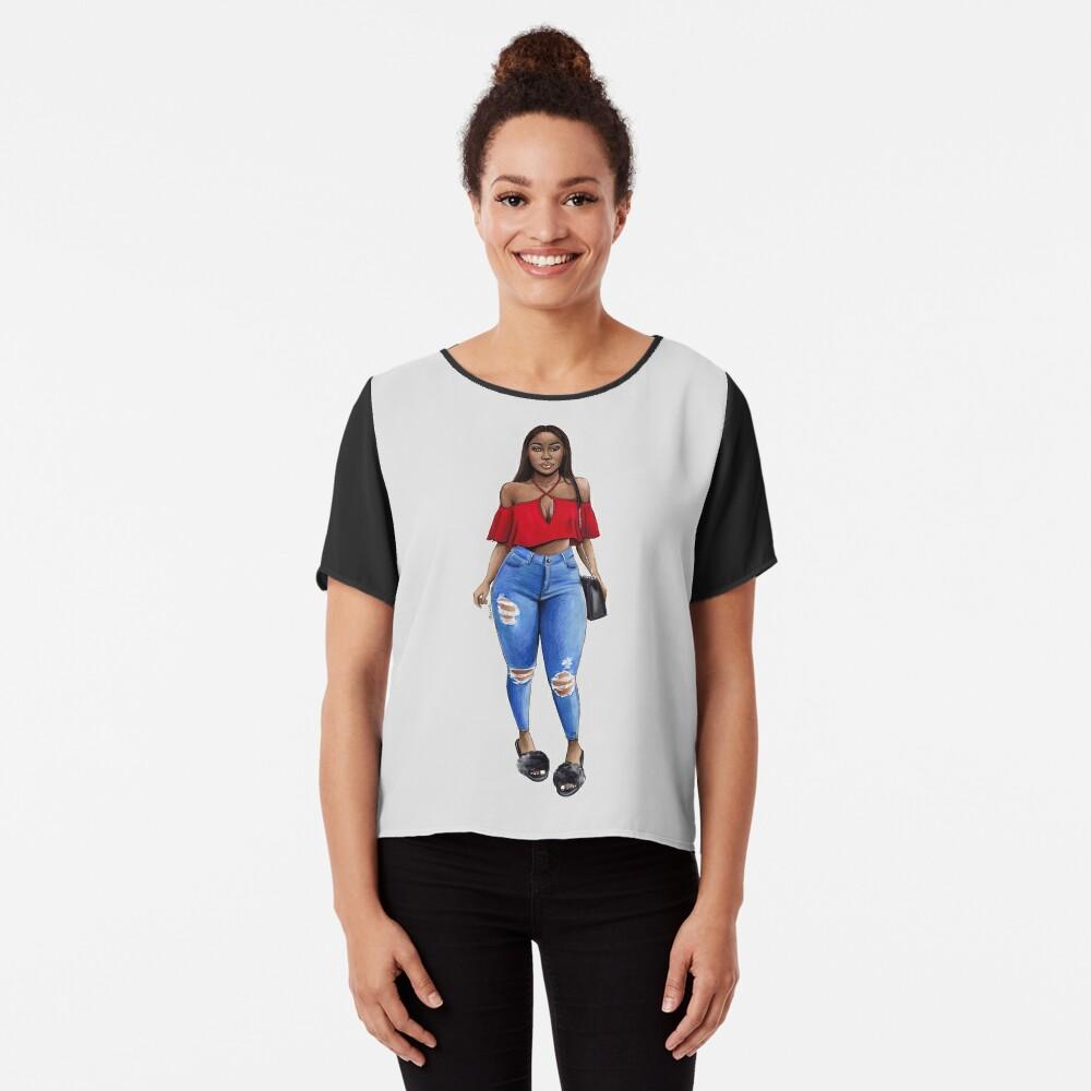 44ea19b9fa7 Graphic T-Shirt.  27.95 · Curvy Red Outfit Girl Women s Chiffon Top
