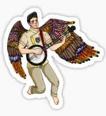 flying sufjan Sticker