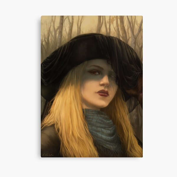 The Lady in Black Canvas Print
