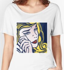 Crying Girl, Homage to Roy Lichtenstein Women's Relaxed Fit T-Shirt