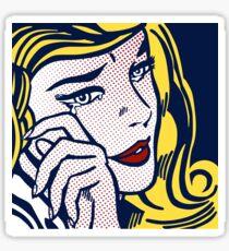 Crying Girl, Homage to Roy Lichtenstein Sticker