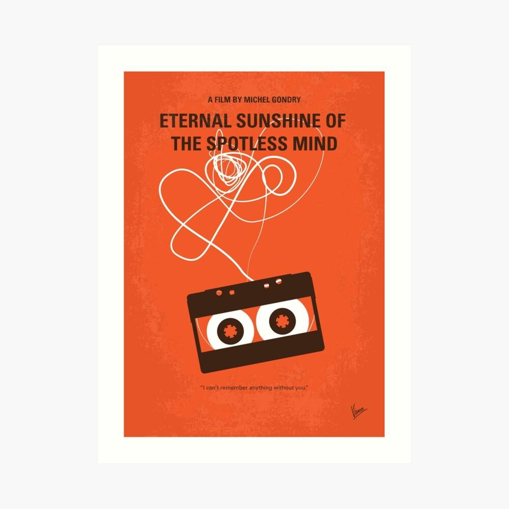 No384 - Ewiger Sonnenschein des makellosen Geistes minimales Filmplakat Kunstdruck